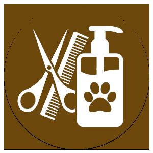 pettine forbici e sapone per animali