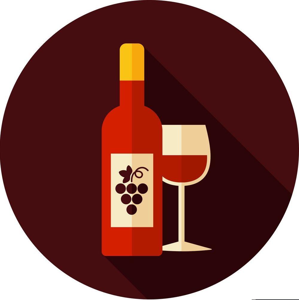 bottiglia di vino con bicchiere