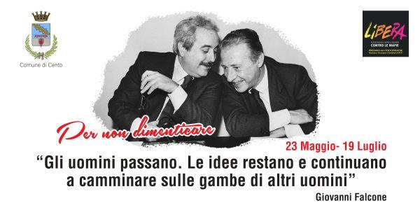 Fotografia di Giovanni Falcone e Paolo Borsellino