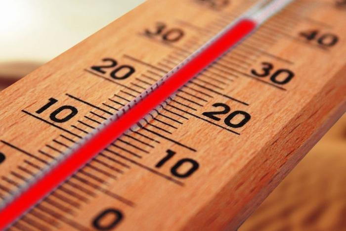termometro di legno che segna 40 gradi