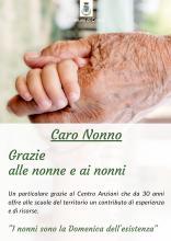 auguri alle nonne ai nonni e ringraziamento al Centro Anziani per le edizioni del Caro Nonno