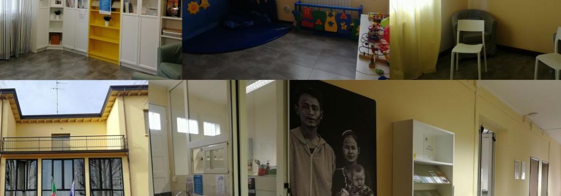 entrata sede e spazi sale gioco e studio del centro per le famiglie