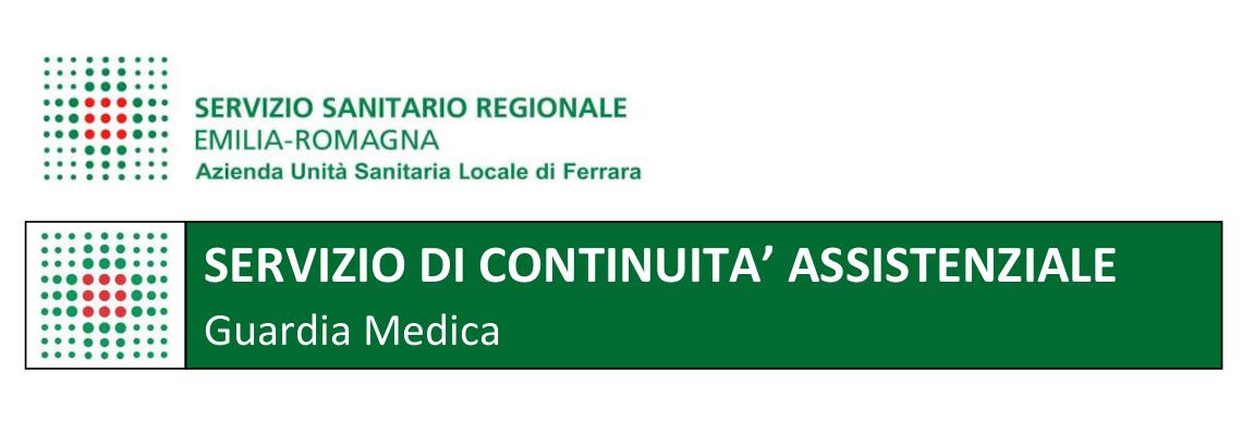 Intestazione del servizio di guardia medica dell'AUSL Ferrara